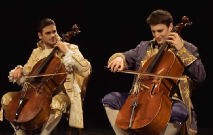 2cellos will be playing at Devin castle