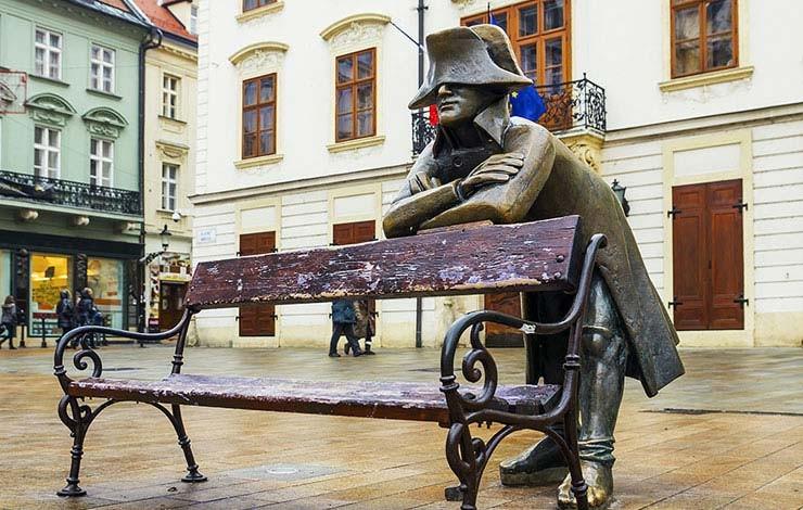Unique statues of Bratislava
